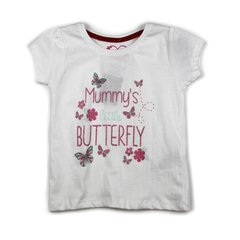 "Футболка ""Mommys Little Butterfly"" Белая Primark"